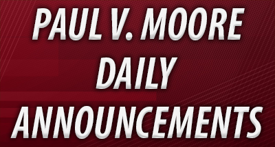 Paul V. Moore High School Daily Announcements