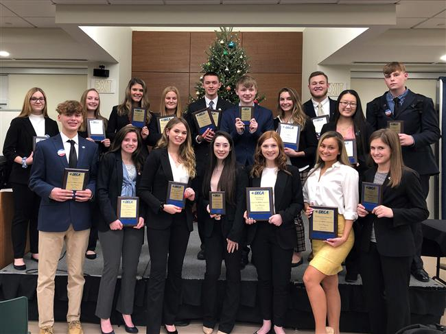 Image of Paul V. Moore High School DECA Students Place at Region 9 Competition
